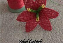 iğne oyasi çiçek yapımı