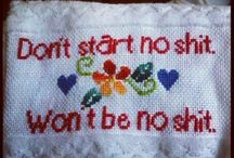 cross stitch trick / all the shit I plan on cross stitching  / by malyree marvel hancock