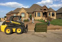 Sod Services - Sod Installation   Wichita, Kansas / Sod is the fastest and easiest way to establish a lawn. With proper care, your newly sodded yard will be ready for use in 3 weeks. The average size yard can be installed in a few hours at a modest cost. Although seeding initially costs less, many costs recur due to erosion, reseeding, over-seeding, and watering. Seed can take 2 to 3 weeks to germinate. Newly seeded lawns take a great deal of time and nurturing to establish into mature, healthy lawn and cannot be used for months.