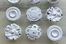 Shabby chic desk knobs