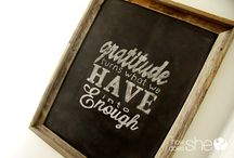 Framed  saying on chalkboard