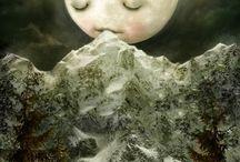 Sun & Moon / The sun and her moon.