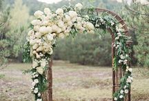 Arch flower arrangements