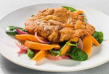Kulinarische Gerichte mit Fleisch. / Rezepte für Schnitzel, Braten, Kalbsragout & Co.