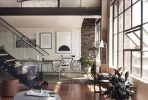 Living Room / Luxury living room design ideas with industrial, rustic, and steampunk inspired spaces.