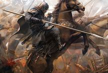 Male Warriors / Male, warriors, characters, fantasy, graphics, art