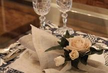 Mesas decoradas para receber bem