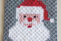 Mantas pixeladas crochett