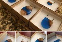 wood & resin jewelry