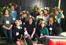 Dallas Flower Crown Class- January 18, 2014 / We had a fun time creating Flower Crowns and alot more at the Dallas Market Center... with 10 students and American Grown Flowers... Thanks to Dallas Design Supply and the Dallas Market Center for helping us host this terrific event! / by J Schwanke