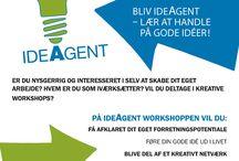 IdéAgent - course leve 1 / IdéAgent er et fem ugers forløb, hvor du sætter dig selv, dine kompetencer og din idé i fokus i forhold til at gennemføre et projekt, opbygge en forretning eller kvalificere en idé.  Forløbet består af fem workshops af tre timers varighed.