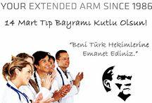 """14 Mart Tıp Bayramı / Mustafa Kemal Atatürk'ün """"Beni Türk hekimlerine emanet ediniz"""" diyerek taçlandırdığı tüm tıp çalışanlarımızın 14 Mart Tıp Bayramını kutlarız..."""