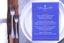 Menus / Whether it's soufflés, roast lamb with all the trimmings or a buffet to impress, the wedding menu needs to get stomachs rumbling and stay in-keeping with the rest of the wedding stationery. http://goo.gl/dMdQGM / by printed.com