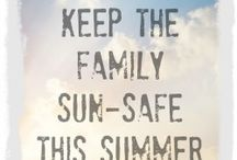 Sunsafe tips / A collection of useful tips to stay sun safe whilst enjoying the outdoors