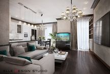 Дизайн гостиной / Разные варианты интерьеров гостиной от Elle Interior