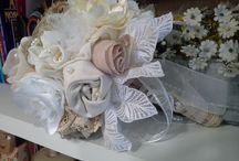 Buque com flores de tecido 100% artesanal / Buque para Noivas.