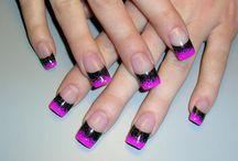 Rockstar back and pink nails
