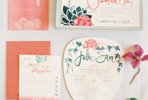 type / Oh how I love typography! This board features printed and handwritten stuff of all kinds for weddings, receptions, parties: Invitations, save the dates, seating cards, seating charts, menus, signs, and more!