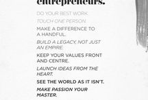 Entrepreneurship / Ideas and inspiration from all over