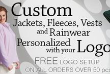 Custom Embroidered Jackets, Pullovers, Vests - Men, Women / Order personalized, custom logo embroidered women's jackets and men's jackets online at EZ Corporate Clothing; vests, pullovers, rain and fleece jackets. http://www.ezcorporateclothing.com/pages/custom-jackets