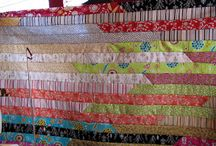 Jelly Rolls / Jelly roll quilts. Ideas Fabric colors Choices.