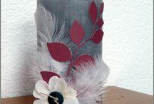 Bougies décorées et centres de table / Pour décorer votre table : - Des bougies pour Noël ou pour toutes les occasions. - Des centres de table