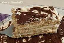 cheesecake, tiramisù, rotoli farciti, torte biscotti girelle