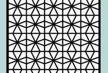 Geometric Circles Stencil