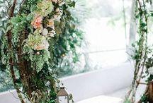Wreath archway