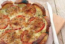 torta salata panne zucchine e pomodori