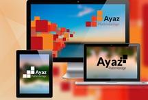 Plattenbeläge Ayaz Brand / Die Hauptidee für das Branding von Plattenbeläge Ayaz war, Fliessen und Kacheln visuell darzustellen. Die Farbkombination ist sehr ansprechend und geht fliessend über zum Firmennamen. Das Logo ist sehr beruhigend und doch modern. Es strahlt Kreativität aus und versichert, das Plattenbeläge Ayaz professionell und kompetent arbeitet, genau das, was dem Kunden wichtig war.