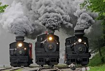 Trains and steam / by Mike Hill