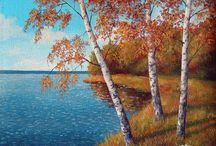 Осень в живописи / Autumn painting / Осень на полотнах художников...