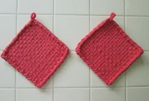 Our Shop: Handwoven Cotton Potholders and Hot Pads