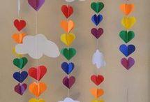 cortina corazones