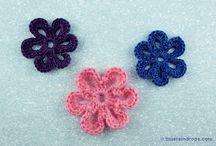 Crochet patterns / Crochet tutorials, crochet motifs, crocheted flowers