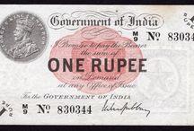 India banknotes / various old banknotes of India