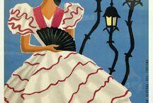 Travel vintage posters Spain & Portugal