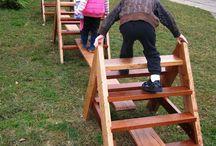 Wooden climbing