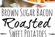 Sweet potatoes with bacon