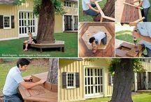 bancos de árvore