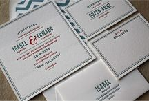 Wedding Invitations / Letterpress Wedding Invitations - sophisticated designs for your Big Day! / by Page Stationery