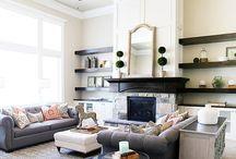 Harristone Fire Place Idea's / Stone veneer displayed on Fireplaces