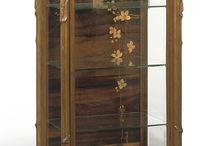 Wooden vitrine
