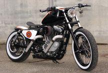 "Sportster Harley ""Bobber RedStar"" by Vida Loca Choppers / Sportster Harley Bobber RedStar Designed by Vida Loca Choppers in 2012"
