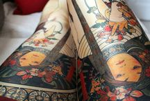 Artwork on the body and nails / Tattoos and nail art