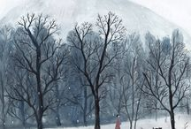 Winter Illustration / Illustrations and drawings of winter and cold
