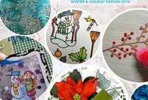 FREE eBook. The Crafters' Chronicle: Holiday Head Start / Elizabeth Craft Designs has launched a FREE eBook for download. With 14 projects from our talented designers, a discount code and links to project-specific Buy it All's, we created this eBook to help you get ready for the holidays.  / by Elizabeth Craft Designs
