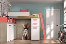 Camas abatibles para dormitorios juveniles