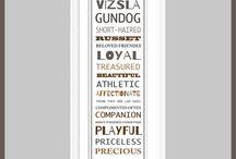Dog word art